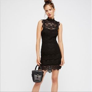 Free People Dresses - NWT•Free People• Daydream Bodycon Lace Slip•Large